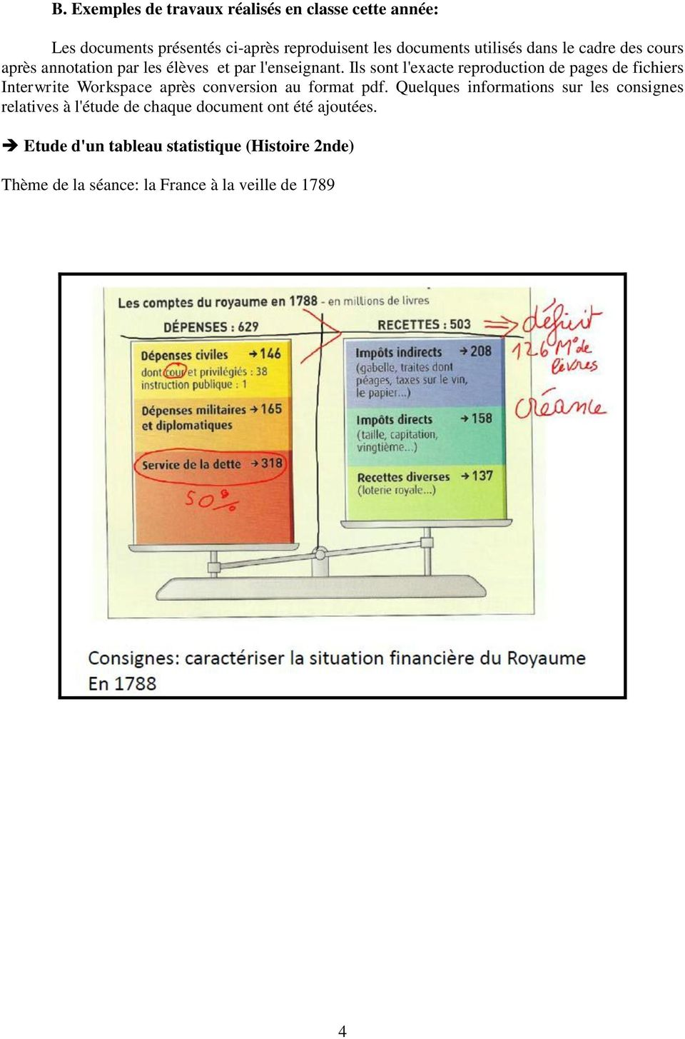 Ils sont l'exacte reproduction de pages de fichiers Interwrite Workspace après conversion au format pdf.