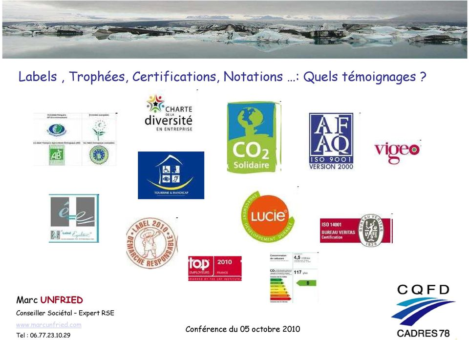 Certifications,