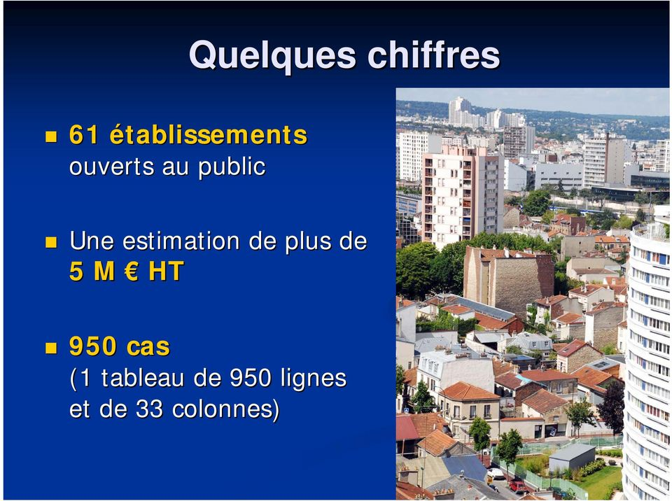 Une estimation de plus de 5 M HT
