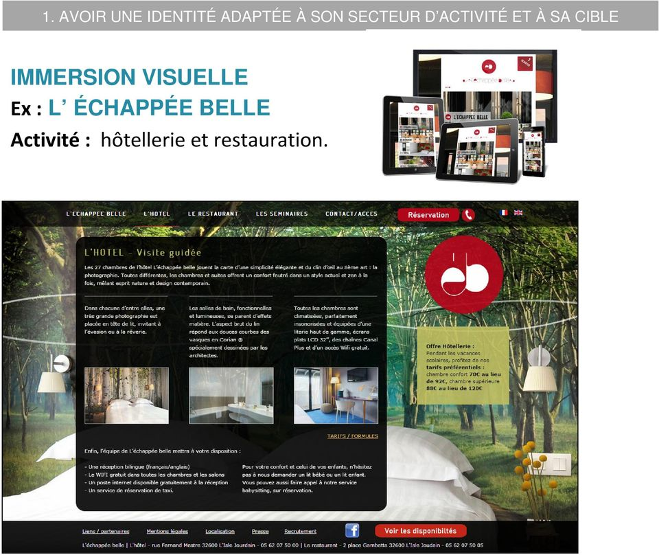 IMMERSION VISUELLE Ex : L ÉCHAPPÉE