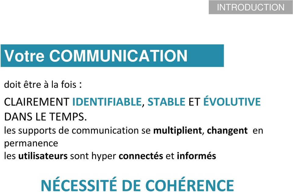 les supports de communication se multiplient, changent en