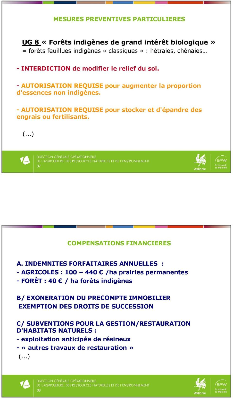 ..) 37 COMPENSATIONS FINANCIERES A.