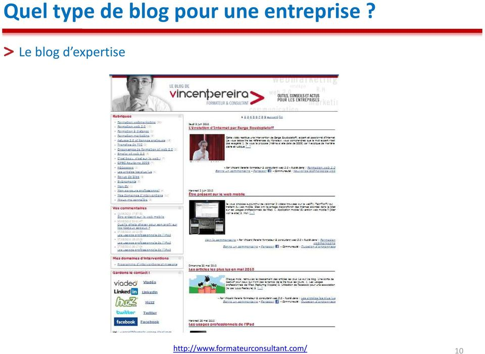 Le blog d expertise