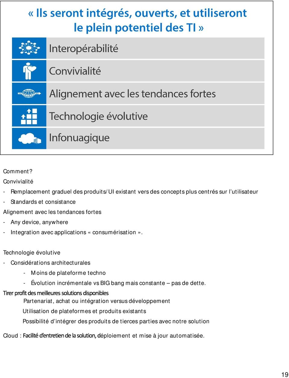 tendances fortes - Any device, anywhere - Integration avec applications «consumérisation».