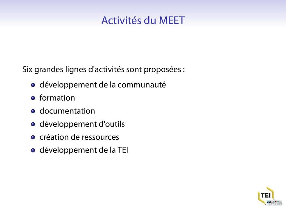 la communauté formation documentation