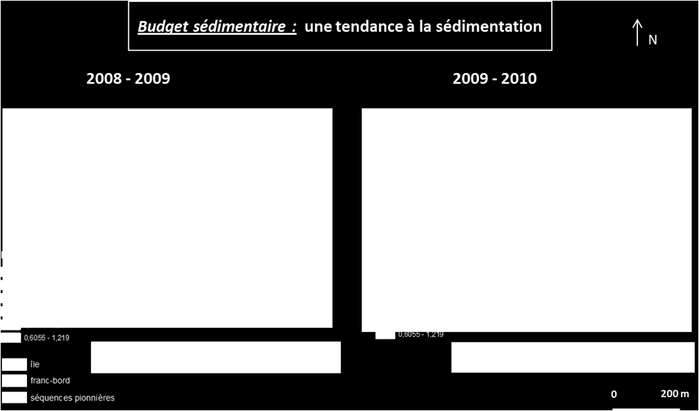 Bilan sédimentaire de l amont du site de Guilly : sédimentation