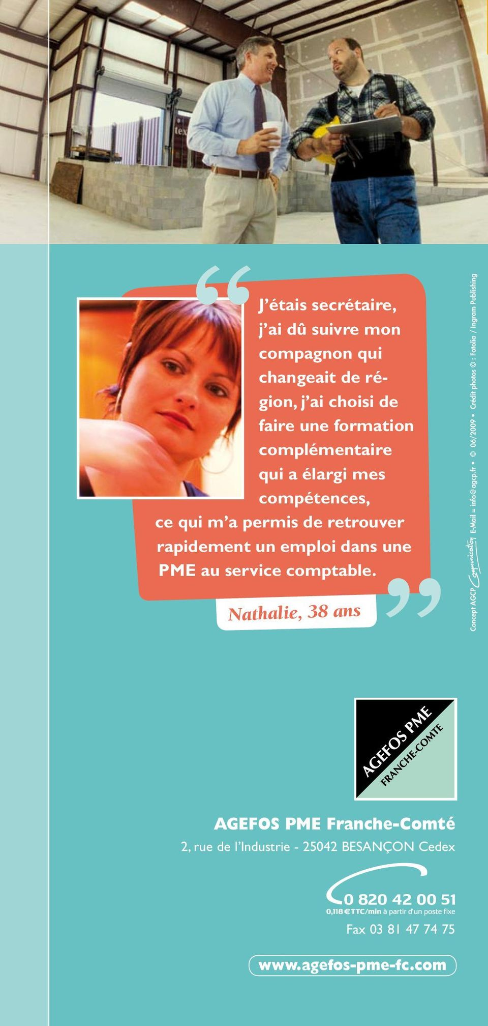 service cmptable. Nathalie, 38 ans Cncept AGCP E-Mail = inf@agcp.