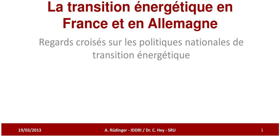 politiques nationales de transition