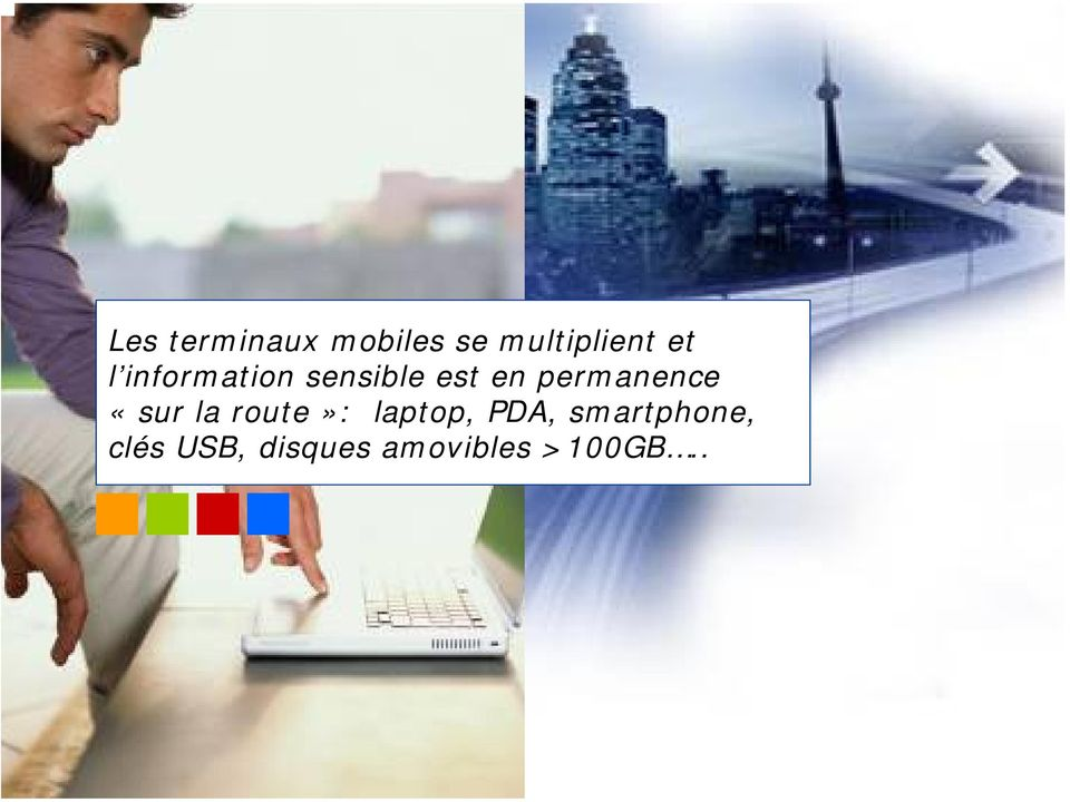 permanence «sur la route»: laptop, PDA,