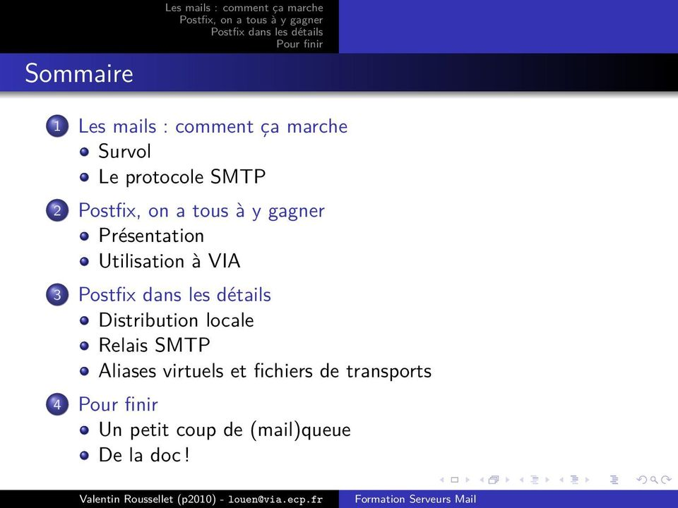 locale Relais SMTP Aliases virtuels et