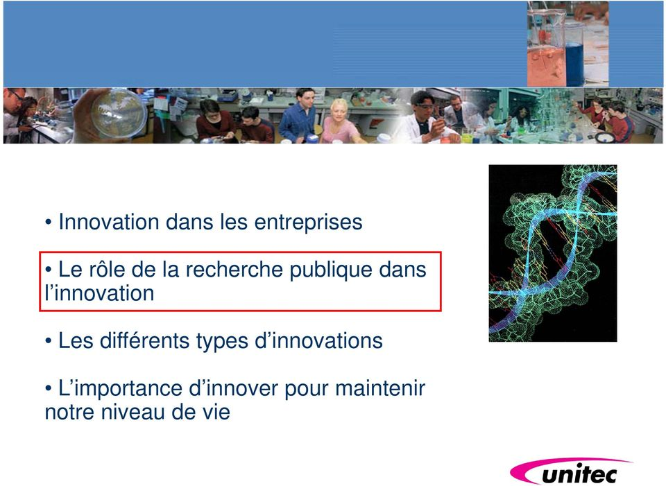 différents types d innovations L importance