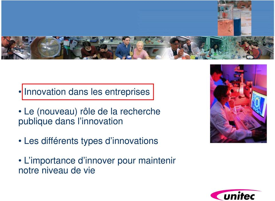innovation Les différents types d innovations