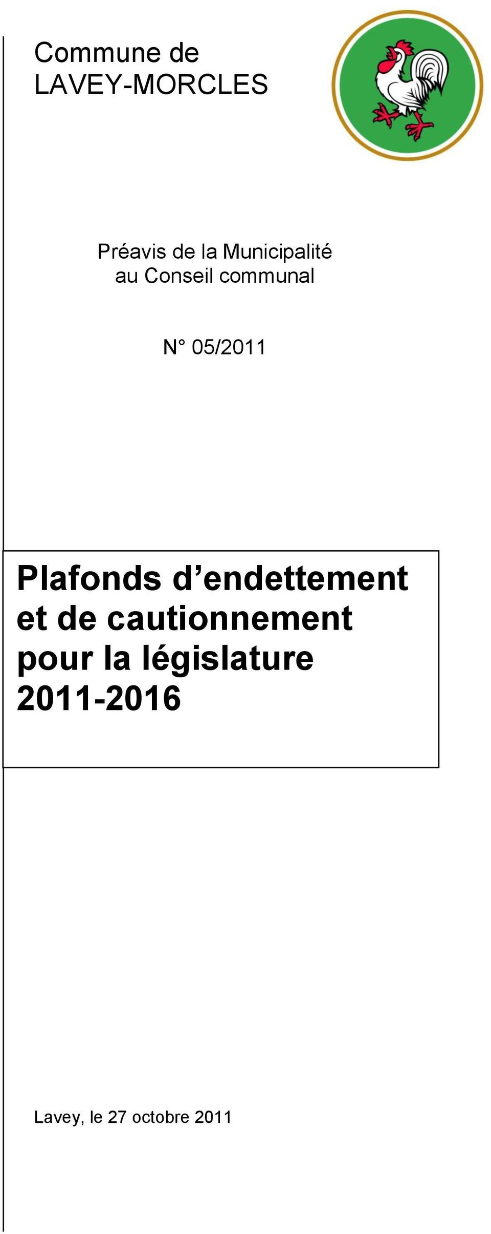 Plafonds d endettement et de cautionnement
