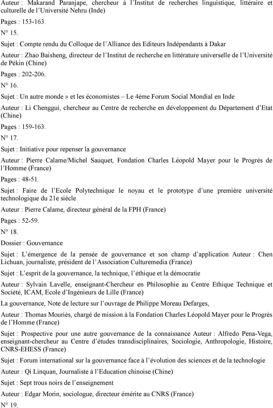 (Chine) Pages : 202-206. N 16.