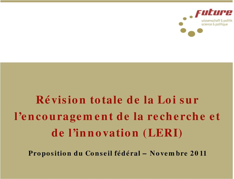 de l innovation (LERI)