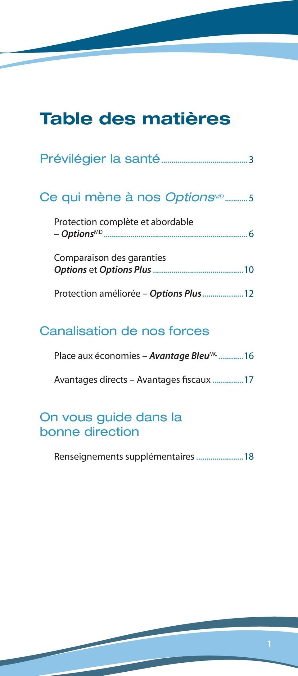 ..10 Protection améliorée Options Plus.