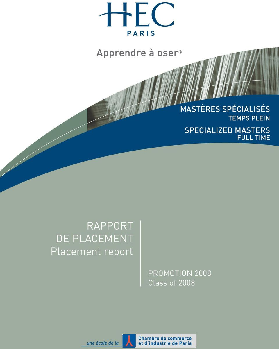 RAPPORT DE PLACEMENT Placement