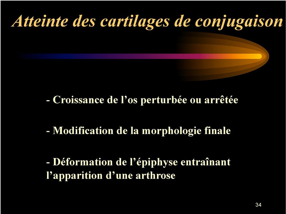 Modification de la morphologie finale -