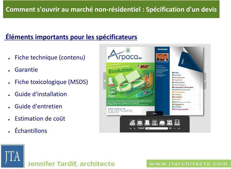 toxicologique (MSDS) Guide d'installation
