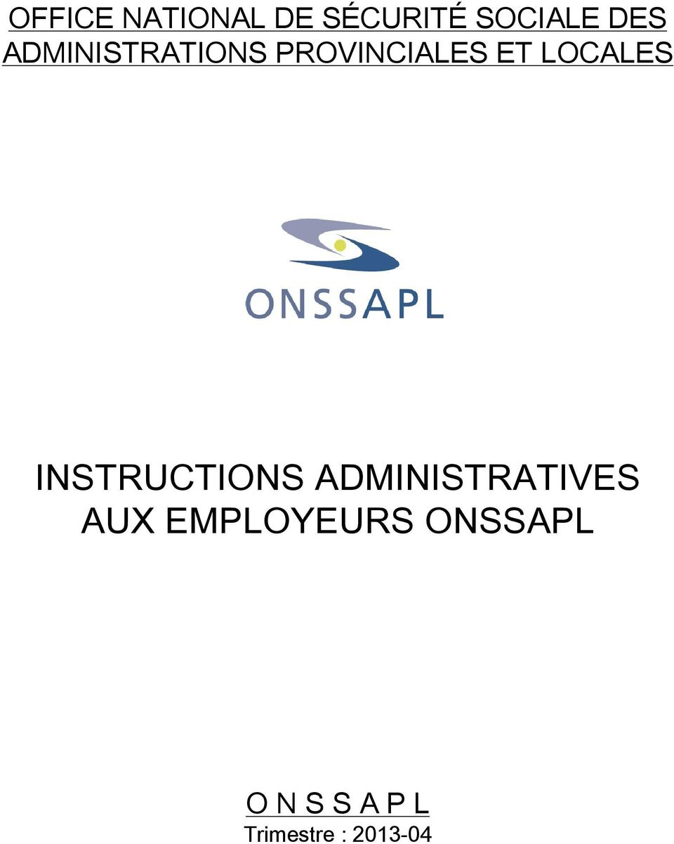 INSTRUCTIONS ADMINISTRATIVES AUX