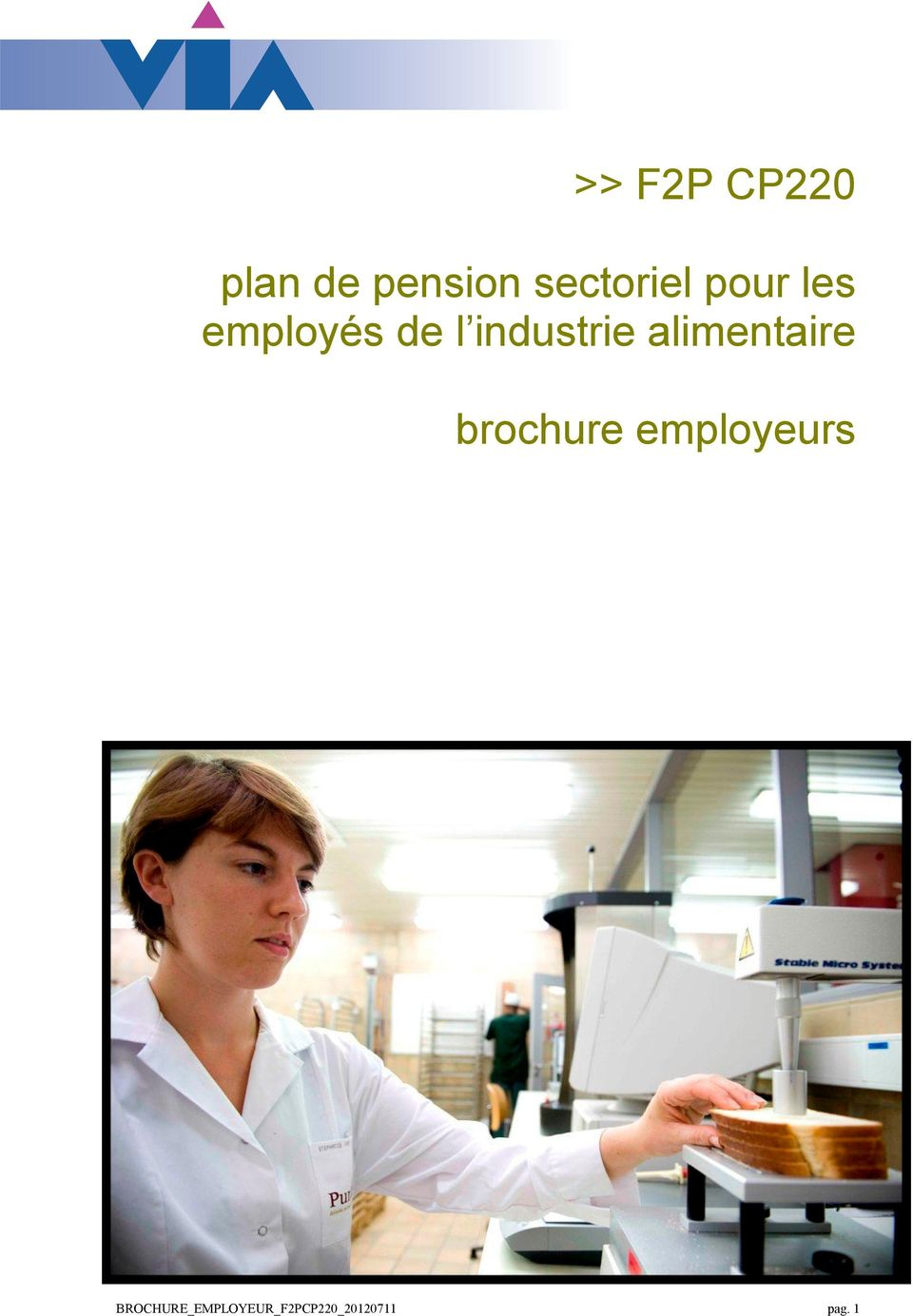 industrie alimentaire brochure