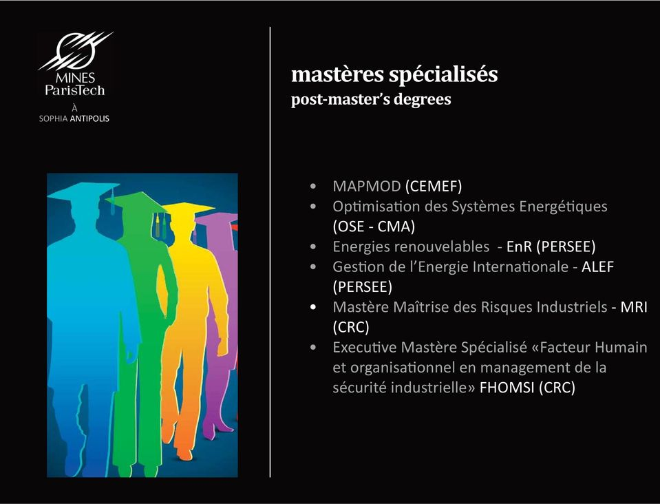 Internationale ALEF (PERSEE) Mastère Maîtrise des Risques Industriels MRI (CRC) Executive