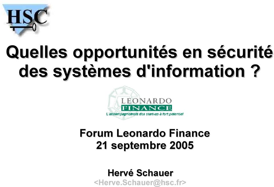 Forum Leonardo Finance 21 septembre