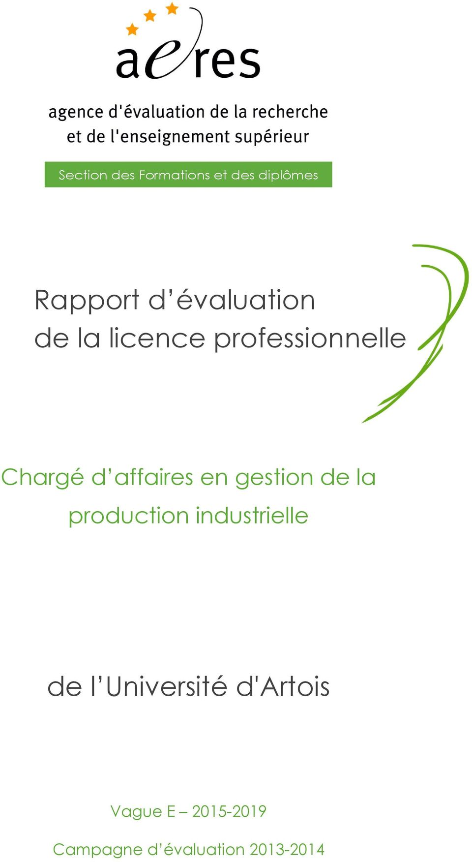 affaires en gestion de la production industrielle de l