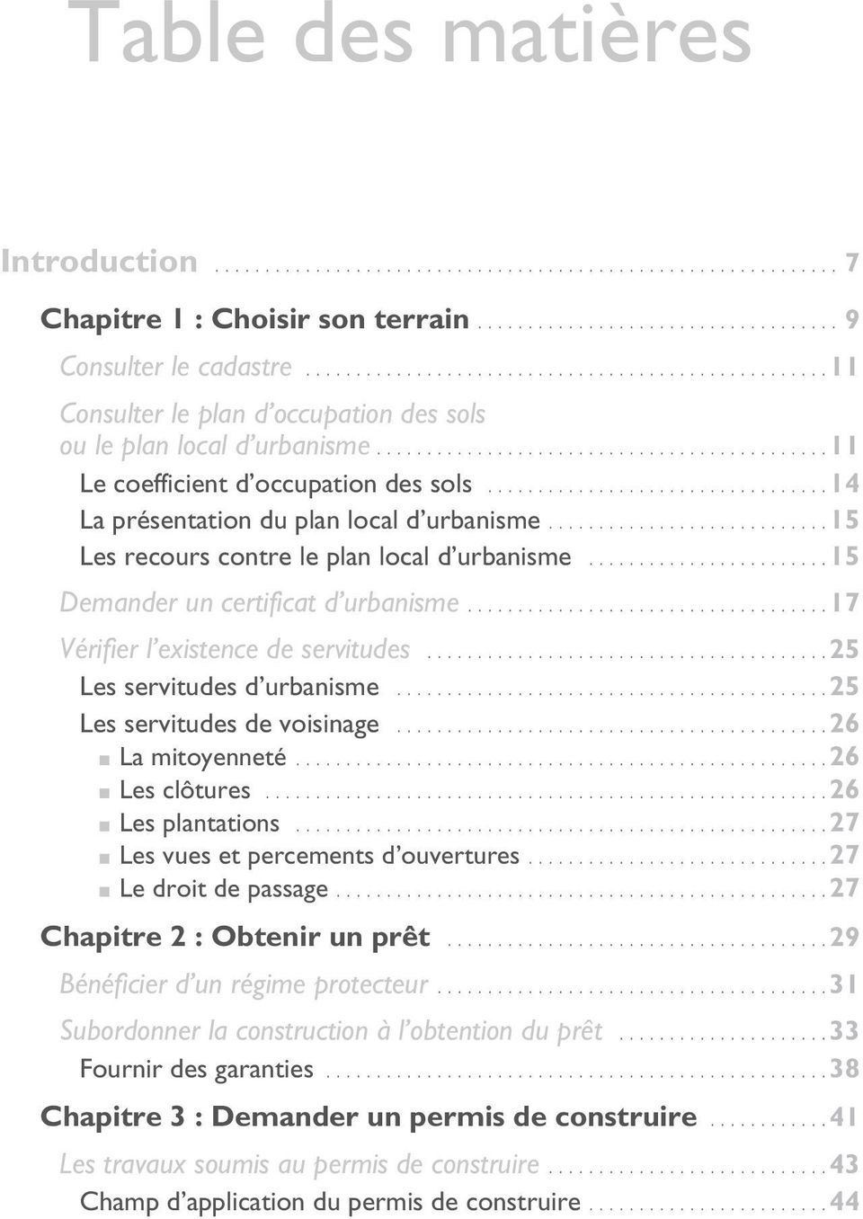 Table des mati res introduction pdf for Certificat d urbanisme positif et refus de permis de construire