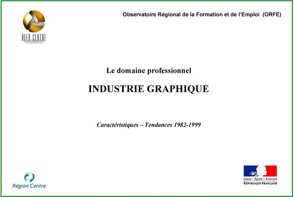 domaine professionnel INDUSTRIE
