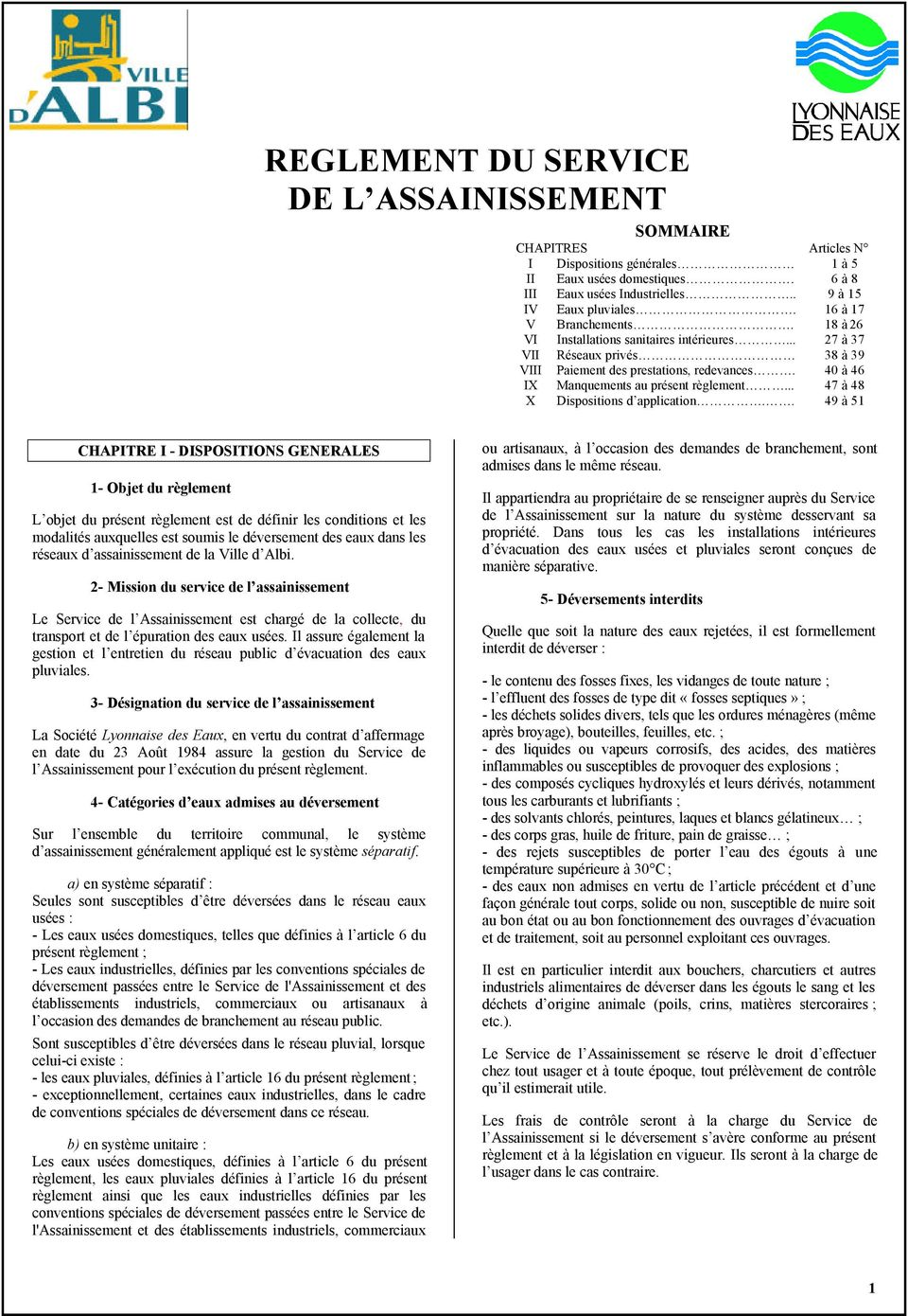 .. 47 à 48 X Dispositions d application.