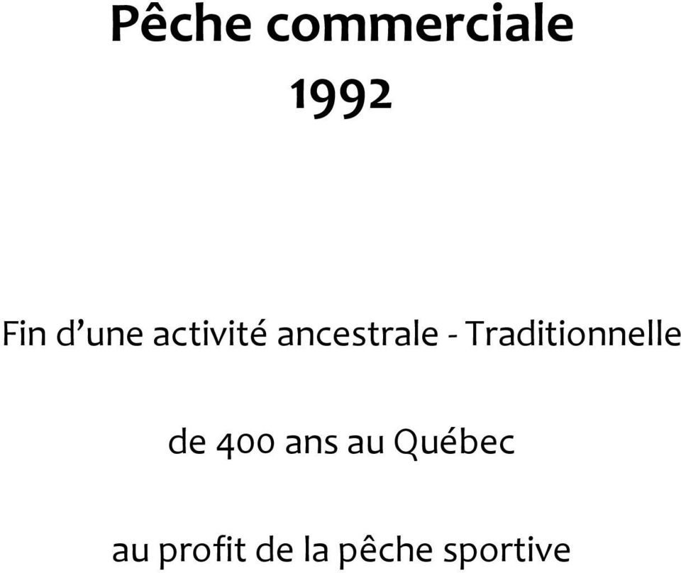 Traditionnelle de 400 ans au