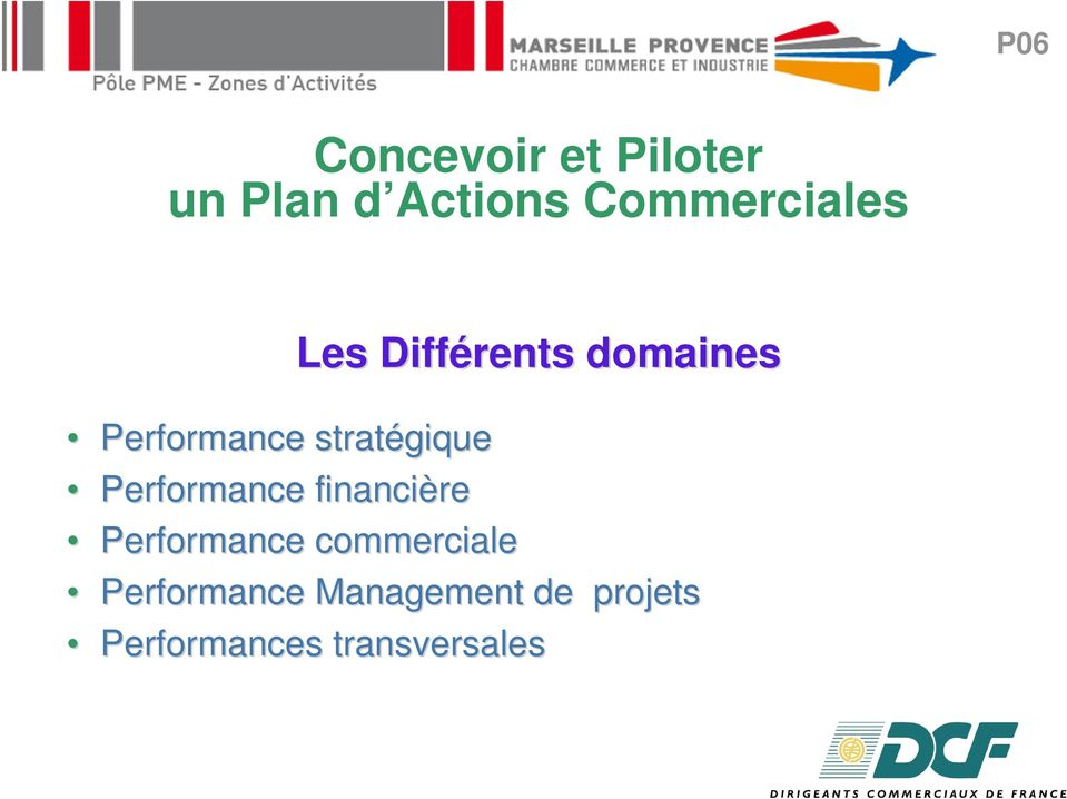 Performance commerciale Performance