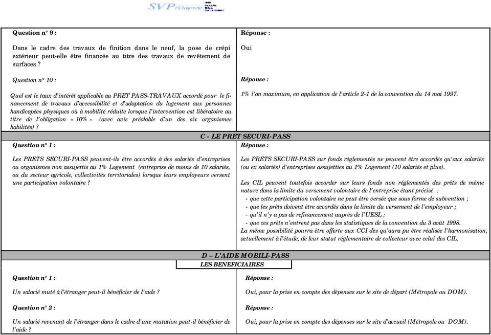 application de l article 2-1 de la convention du 14 mai 1997.