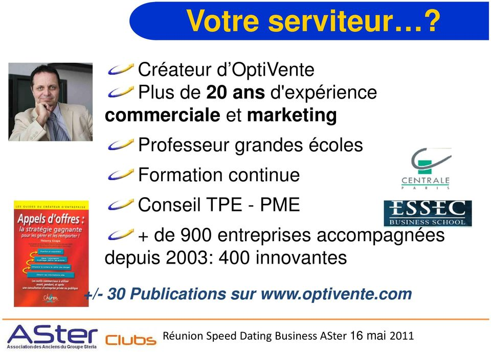 marketing Professeur grandes écoles Formation continue Conseil