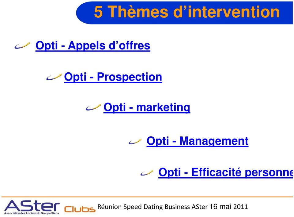 Prospection Opti - marketing
