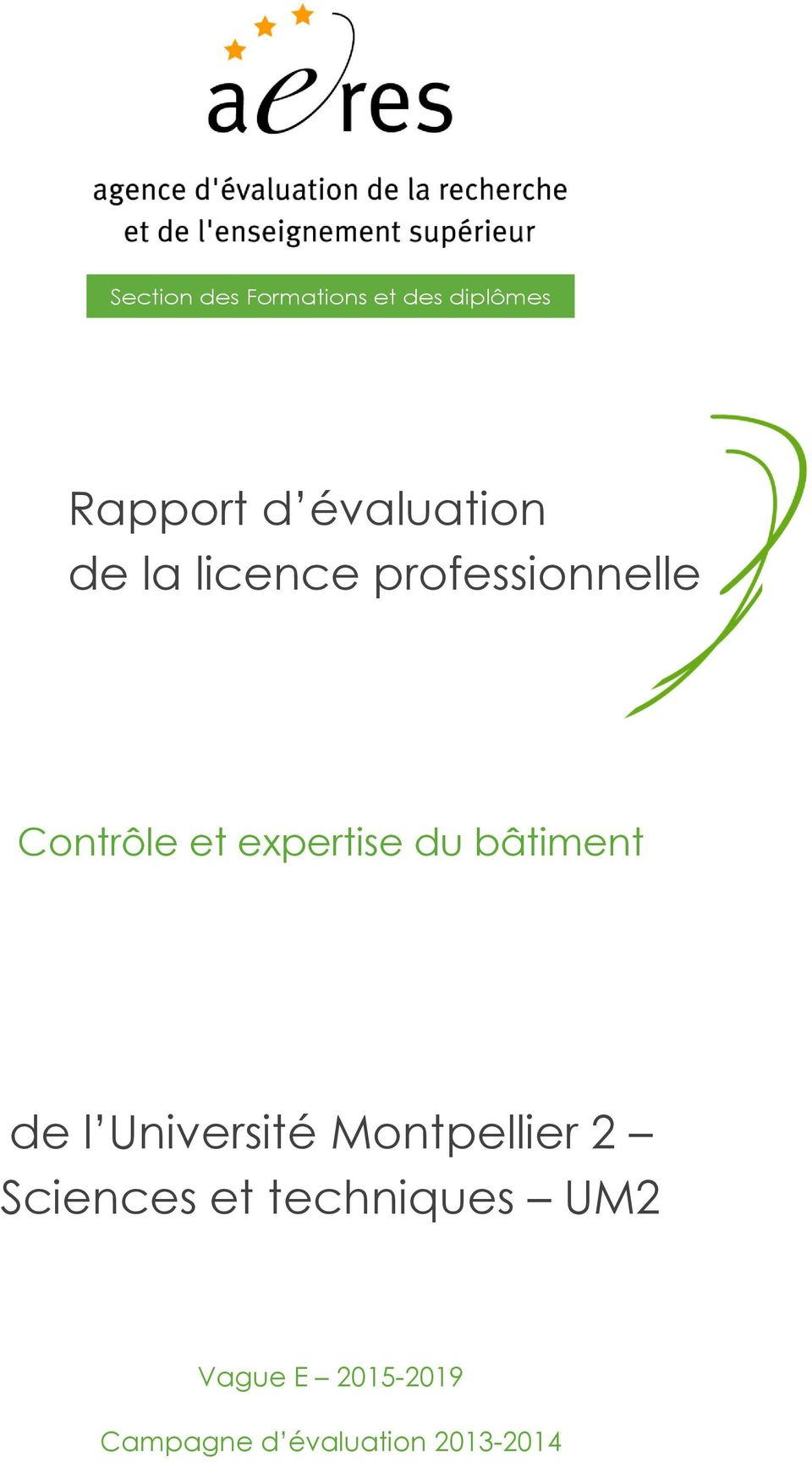 expertise du bâtiment de l Université Montpellier 2