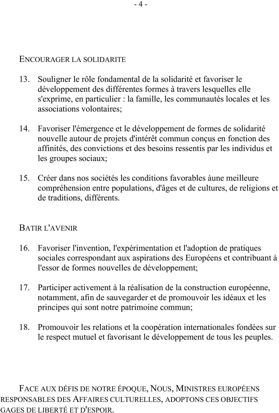 associations volontaires; 14.