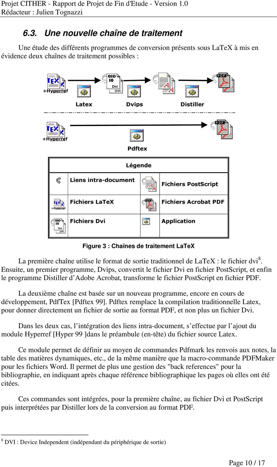 le format de sortie traditionnel de LaTeX : le fichier dvi 8.
