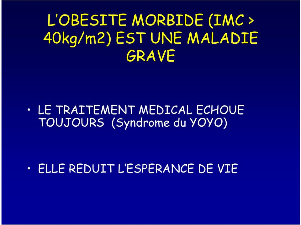 MEDICAL ECHOUE TOUJOURS (Syndrome