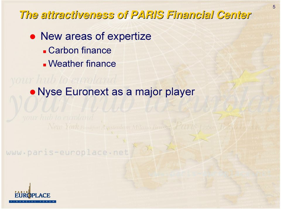 expertize Carbon finance Weather