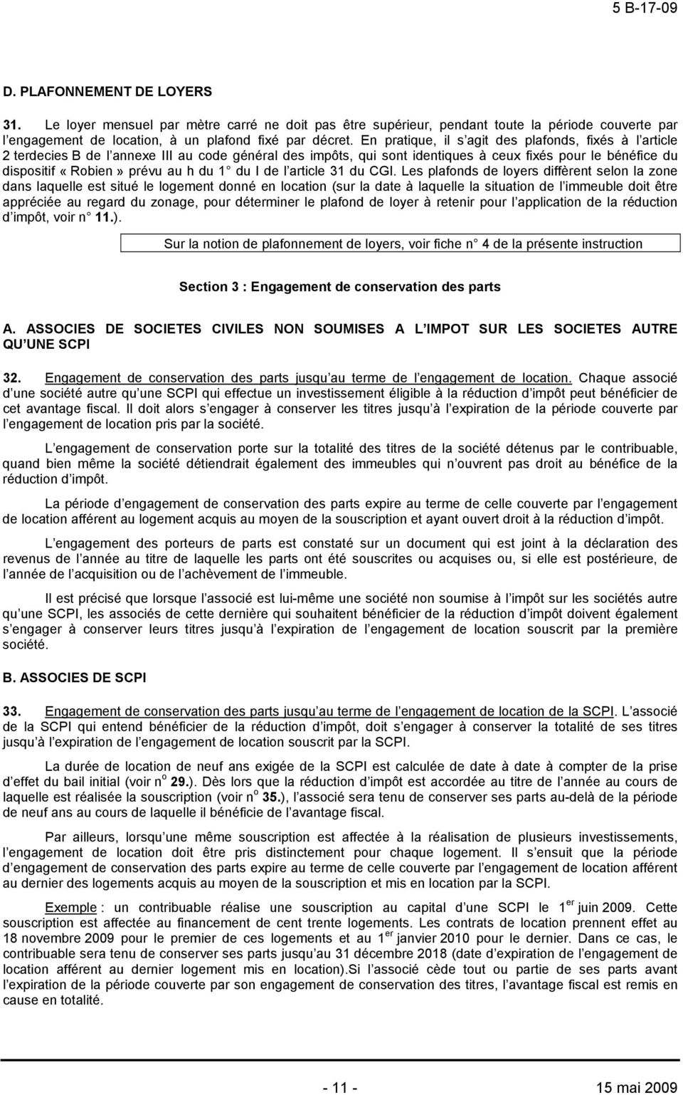 1 du I de l article 31 du CGI.