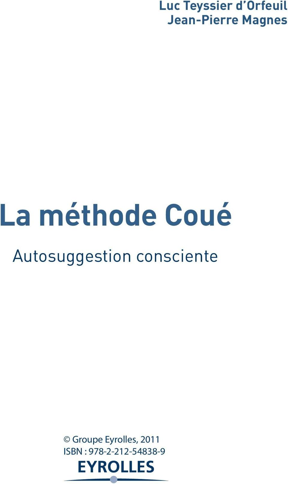 méthode Coué Autosuggestion