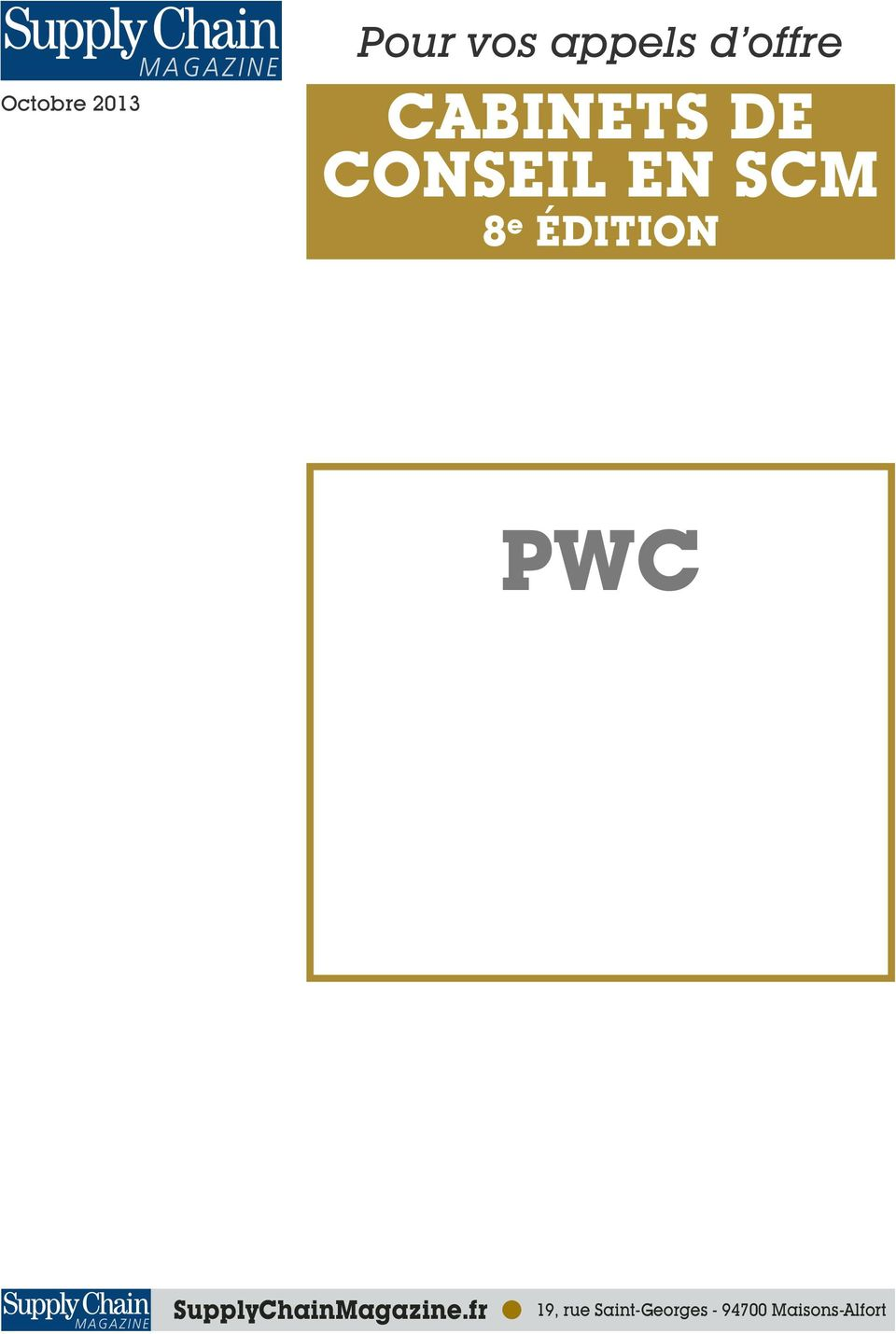 ÉDITION PWC SupplyChainMagazine.