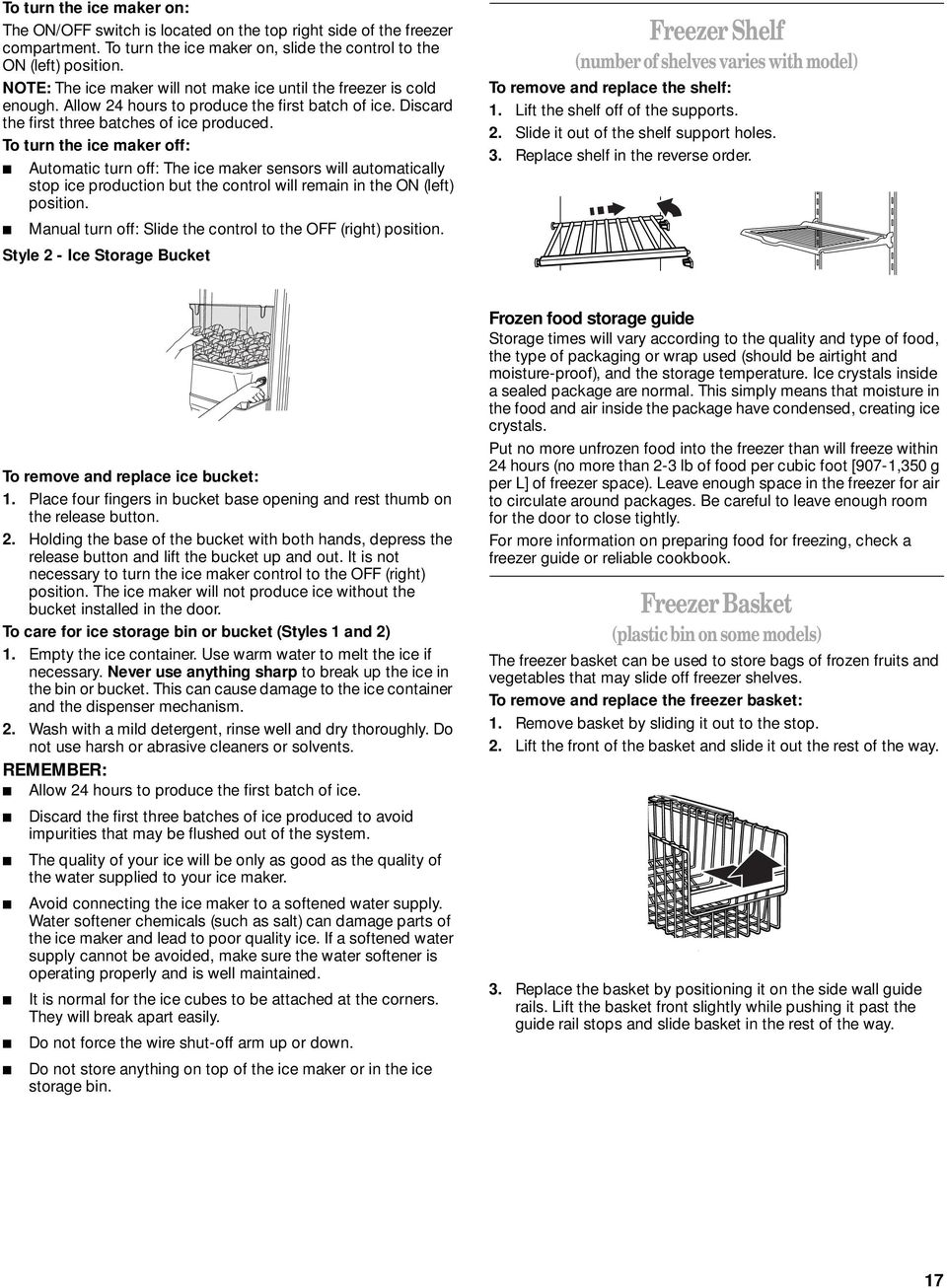 kenmore ice cream maker manual