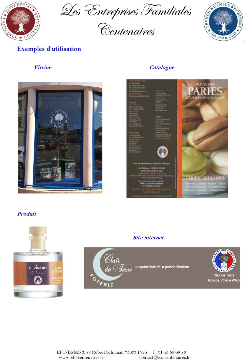Vitrine Catalogue Produit