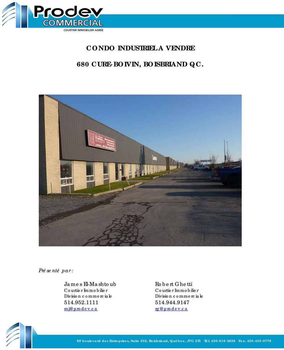 Immobilier Courtier Immobilier Division commerciale