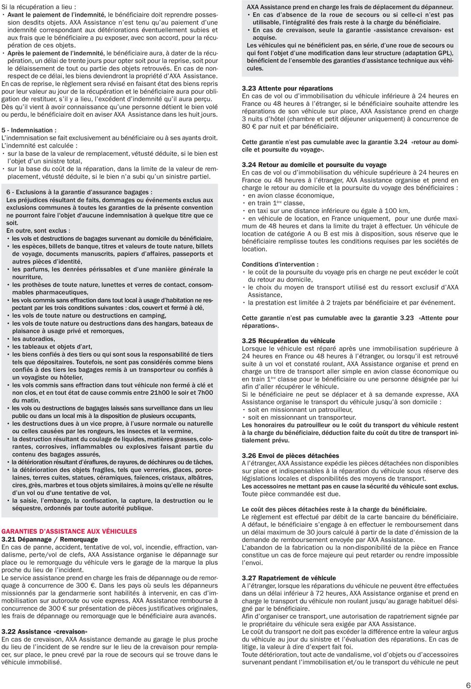 Conditions g n rales super assistance pdf for Lettre litige garage