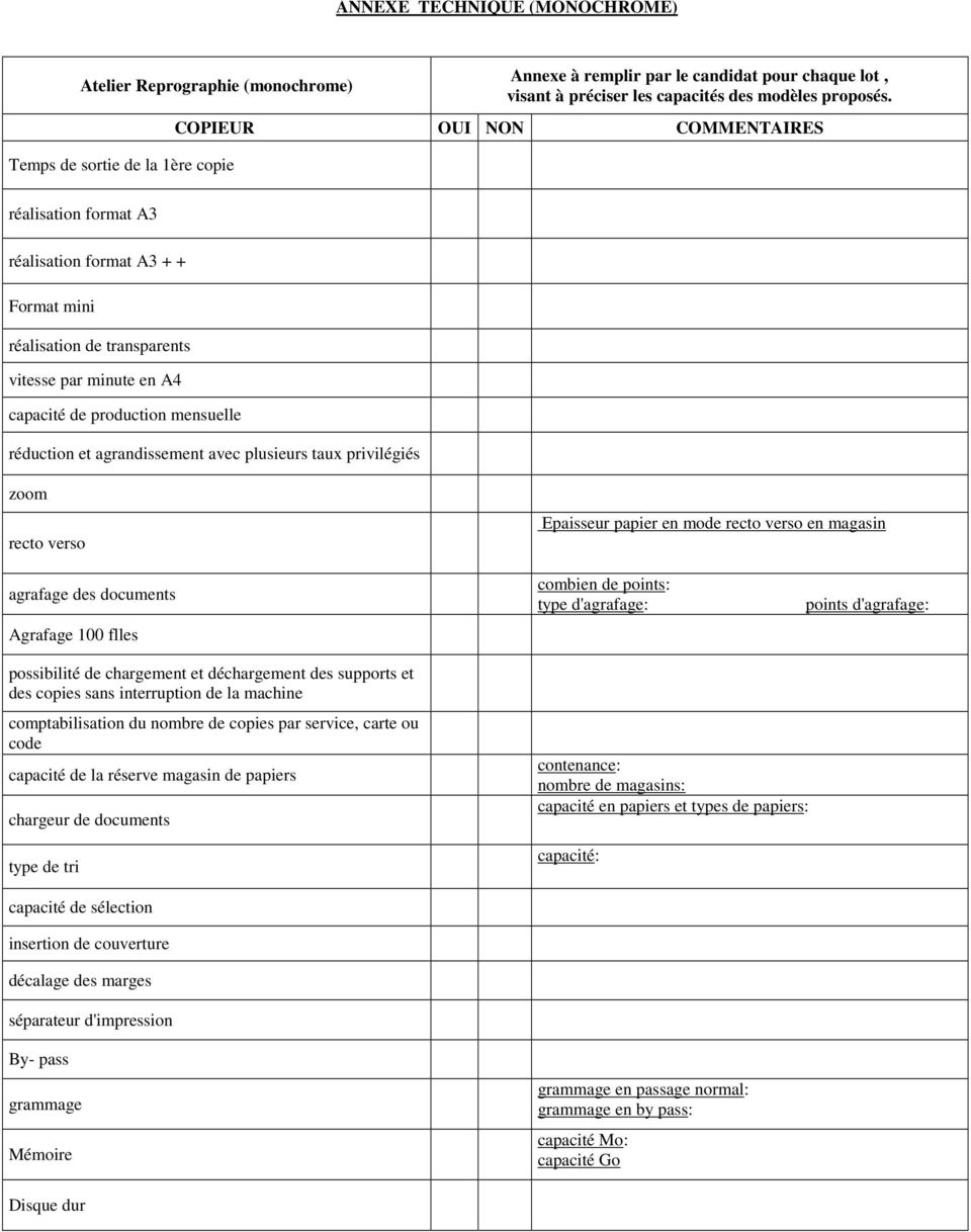 agrandissement avec plusieurs taux privilégiés zoom recto verso Epaisseur papier en mode recto verso en magasin agrafage des documents Agrafage 100 flles combien de points: type d'agrafage: points