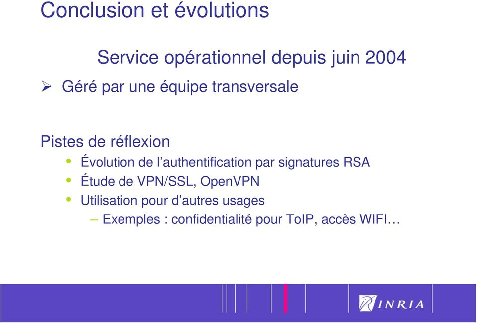 authentification par signatures RSA Étude de VPN/SSL, OpenVPN